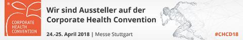 Corporate Health Convention vom 24. bis 25. April in Halle 1 der Messe Stuttgart