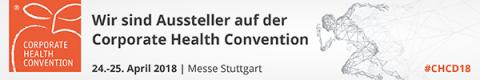 Corporate Health Convention vom 24. bis 25. April in Halle 1 der Messe Stuttgart