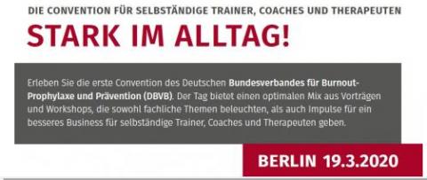 1. DBVB-Convention am 19. März in Berlin: